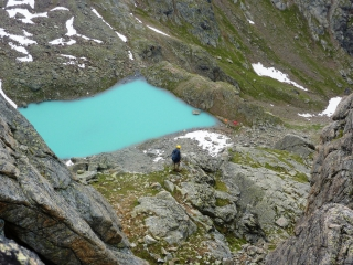 Озеро под Доломитами