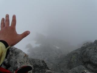 Спуск с вершины Южный Доломит